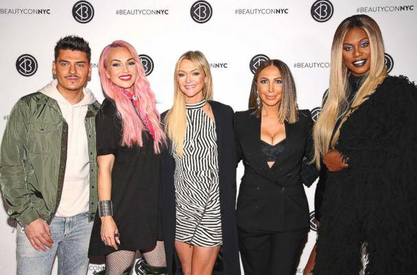 PHOTO: (L-R) Mario Dedivanovic, Kandee Johnson, Zanna Roberts Rassi, Diana Madison, and Laverne Cox attend Beautycon Festival NYC 2018 - Day 1 at Jacob Javits Center, April 21, 2018 in New York City. (Paul Zimmerman/Getty Images)