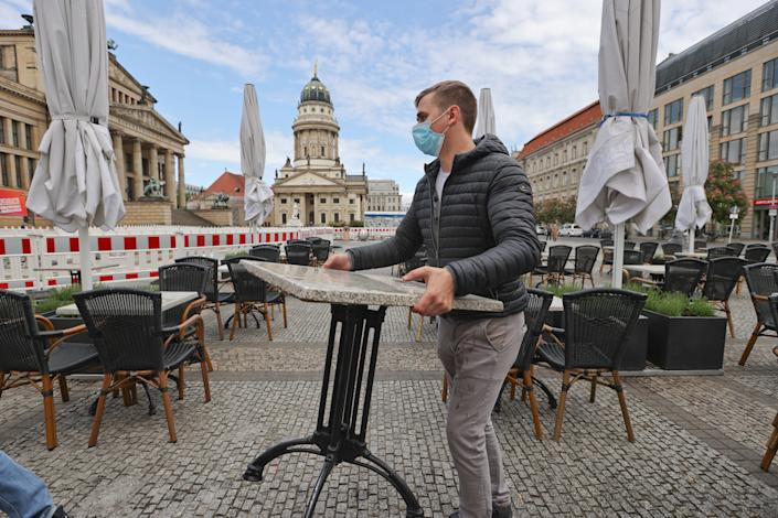 Restaurant staff in Berlin prepare for their reopening