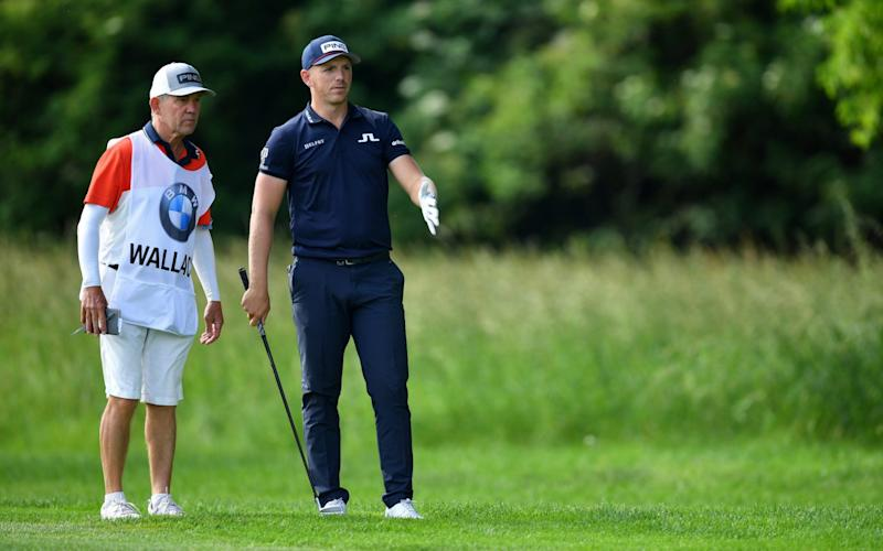 Wallace was seen remonstrating with caddie Dave McNeilly at the recent BMW International in Munich - Getty Images Europe