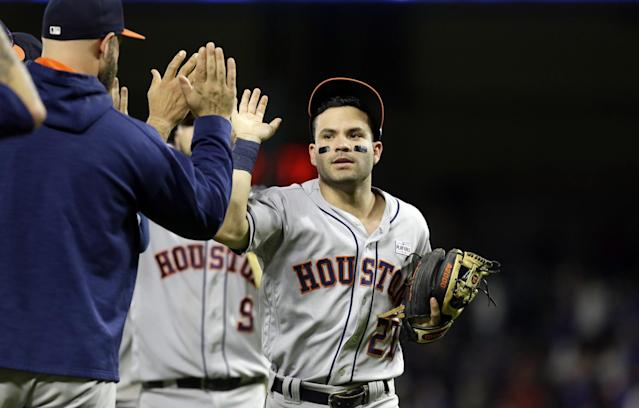 The Houston Astros are on pace for 117 wins. (AP)