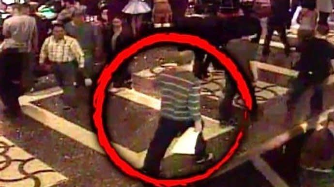 Las Vegas Gunman Seen In Newly Released Footage Of Casino Slip And Fall Incident