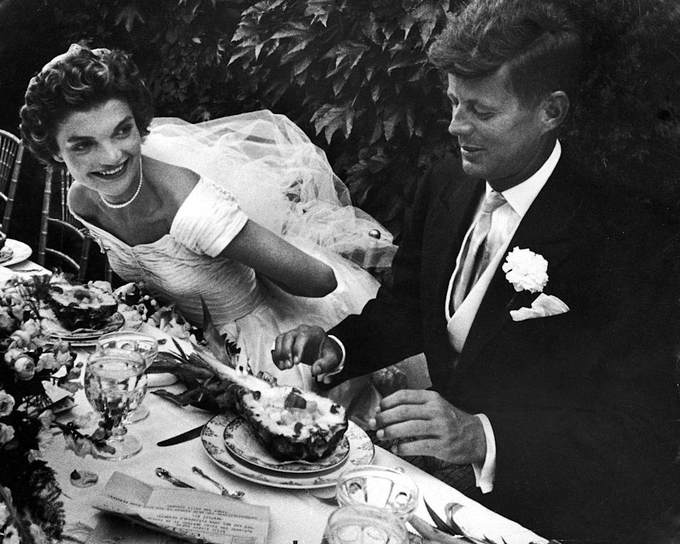 """<p>Instead, Jackie lost her virginity with John P. Marquand in an <a href=""""http://www.express.co.uk/news/world/475532/Jackie-Kennedy-s-new-biography-delves-deep-into-family-secrets-and-her-life-with-JFK"""" rel=""""nofollow noopener"""" target=""""_blank"""" data-ylk=""""slk:elevator"""" class=""""link rapid-noclick-resp"""">elevator</a> that was caught between two floors. </p>"""