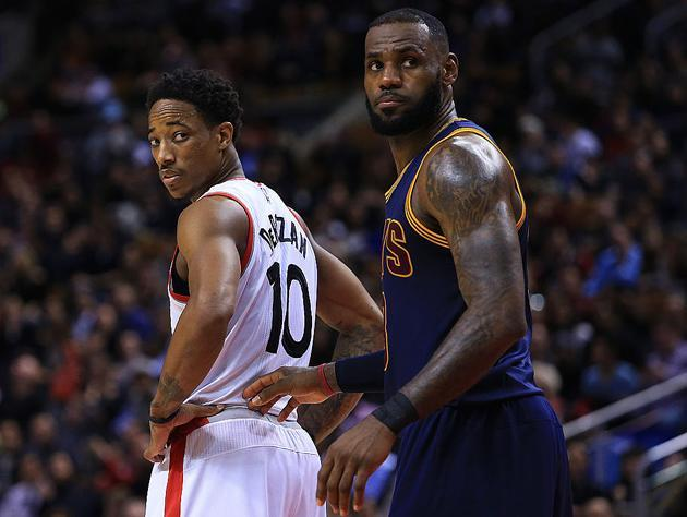 DeMar DeRozan and LeBron James have battled it out for the rank of the East's best player. (Getty Images)