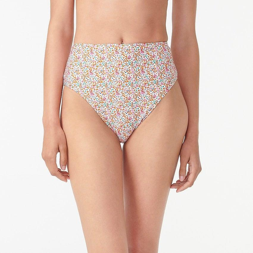 """<br><br><strong>J.Crew</strong> High-cut waist bikini bottom in Liberty® Eloise floral, $, available at <a href=""""https://go.skimresources.com/?id=30283X879131&url=https%3A%2F%2Fwww.jcrew.com%2Fp%2Fwomens%2Fcategories%2Fclothing%2Fswimwear%2Fhigh-cut-waist-bikini-bottom-in-liberty-eloise-floral%2FAY021%3Fdisplay%3Dsale%26fit%3DClassic%26isFromSale%3Dtrue%26color_name%3Dsunset-pink-multi%26colorProductCode%3DAY021"""" rel=""""nofollow noopener"""" target=""""_blank"""" data-ylk=""""slk:J. Crew"""" class=""""link rapid-noclick-resp"""">J. Crew</a>"""