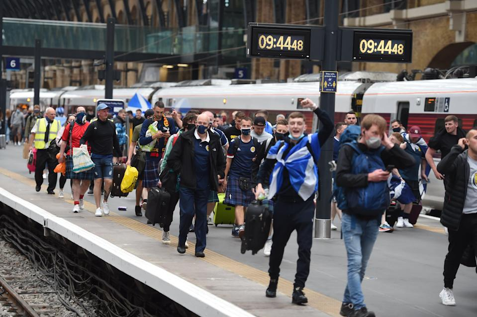 Some believe more than 20,000 Scottish fans have travelled for the match (Jeremy Selwyn)