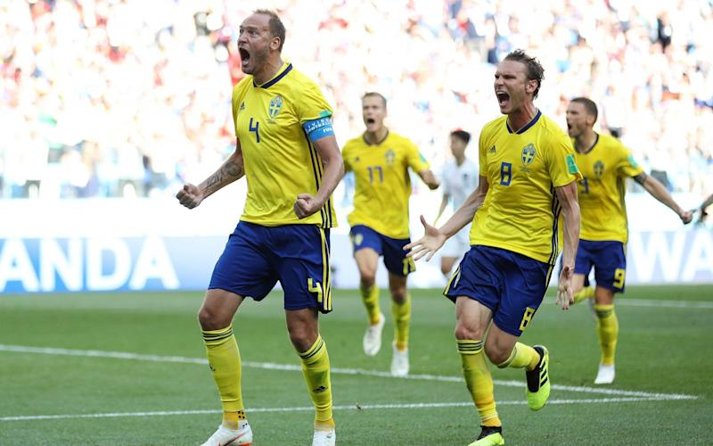 Andreas Granqvist stepped up to score the only goal of the game from the penalty spot - Getty Images Europe