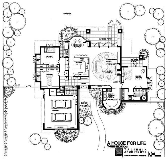 life magazine dream house plans - house plans