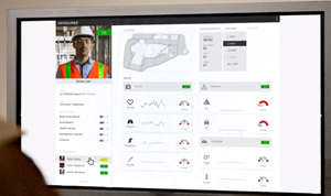 With SafeGuard, a safety manager can oversee the health and safety status of multiple workers simultaneously, including their location, various physiological health indicators, hazards, and stressors.