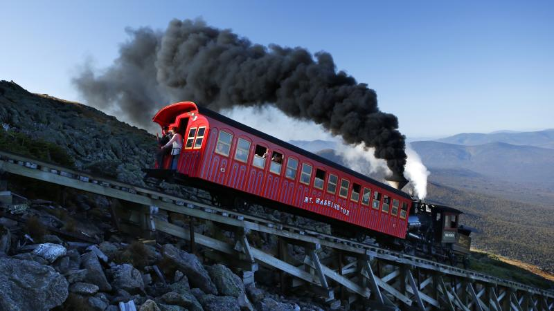 Train helps rescue hiker who survived 200ft fall down Mount Washington