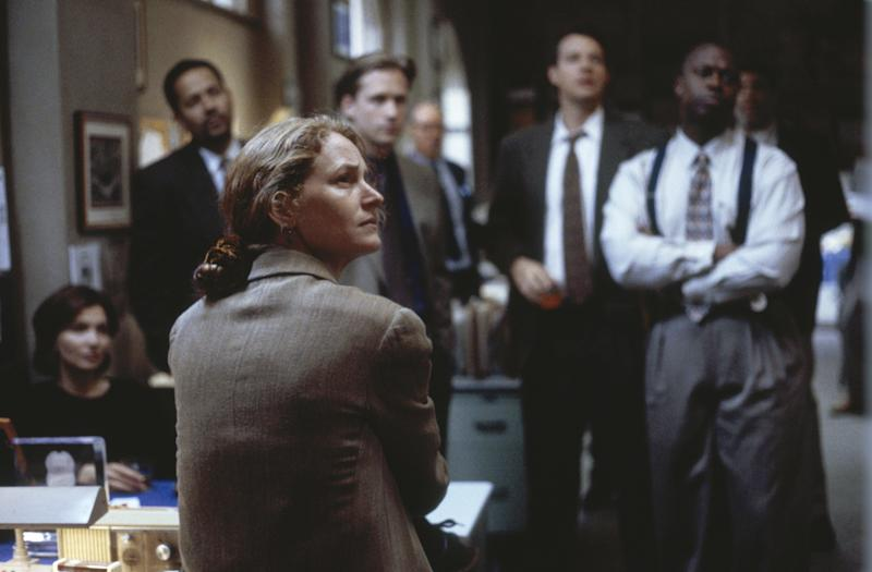 "Melissa Leo stars in ""Homicide: Live on the Street,"" portraying Det. Kay Howard. (NBC via Getty Images)"