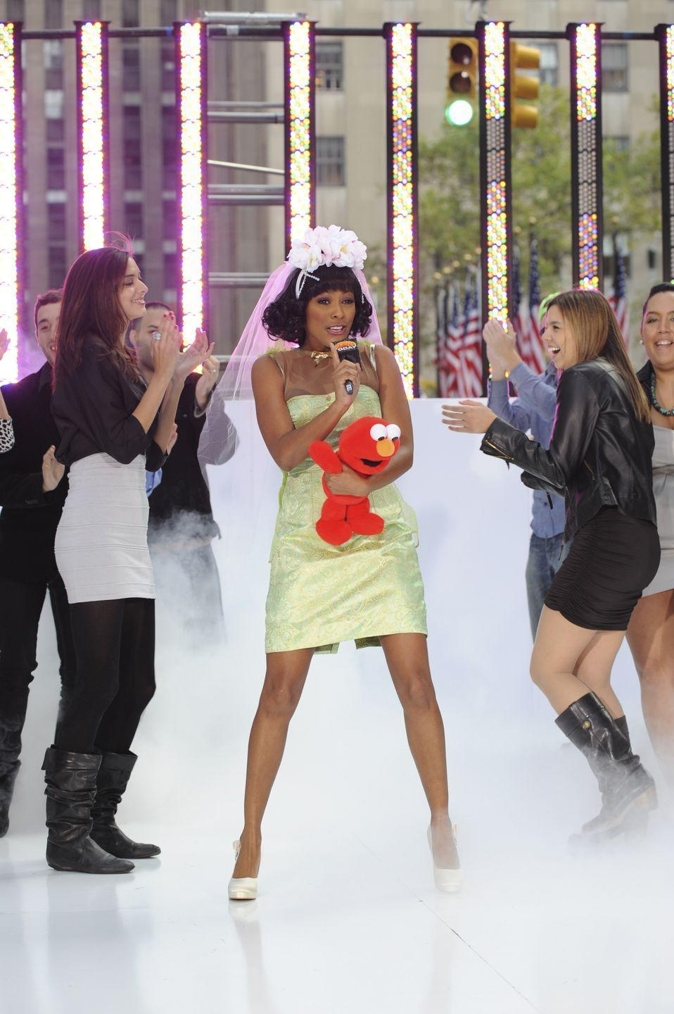 <p>WEEKEND TODAY co-host Tamron Hall celebrates Halloween on the Plaza as Katy Perry<br><br>2010<br></p>