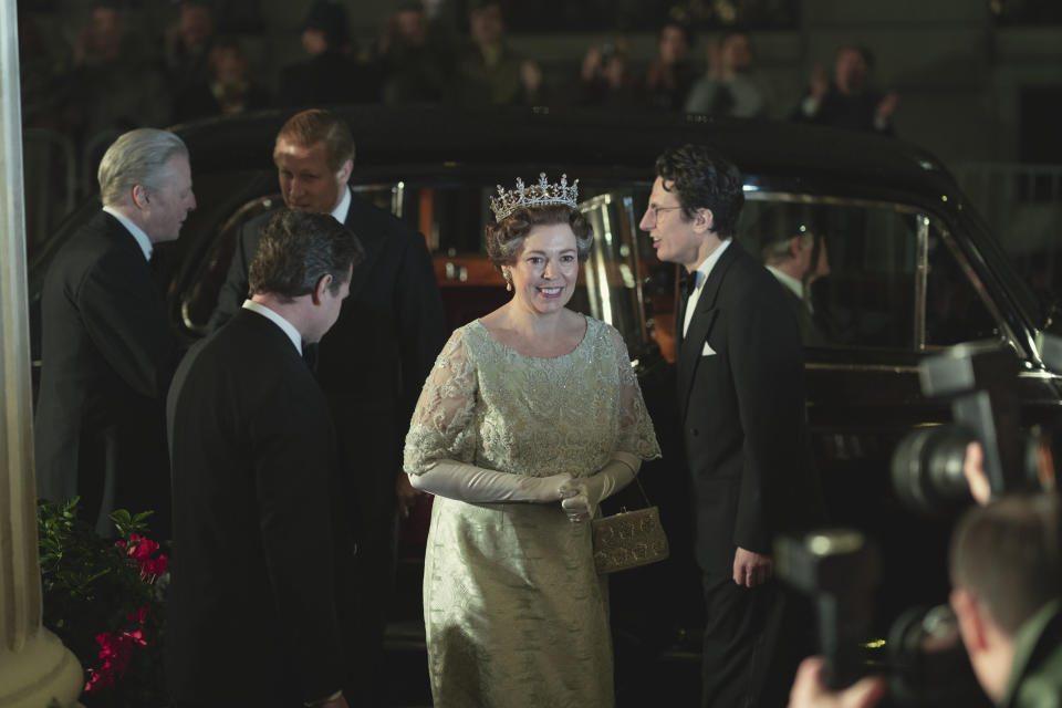 PICTURE SHOWS: Queen Elizabeth II (OLIVIA COLMAN). Filming Location: Lyceum Theatre