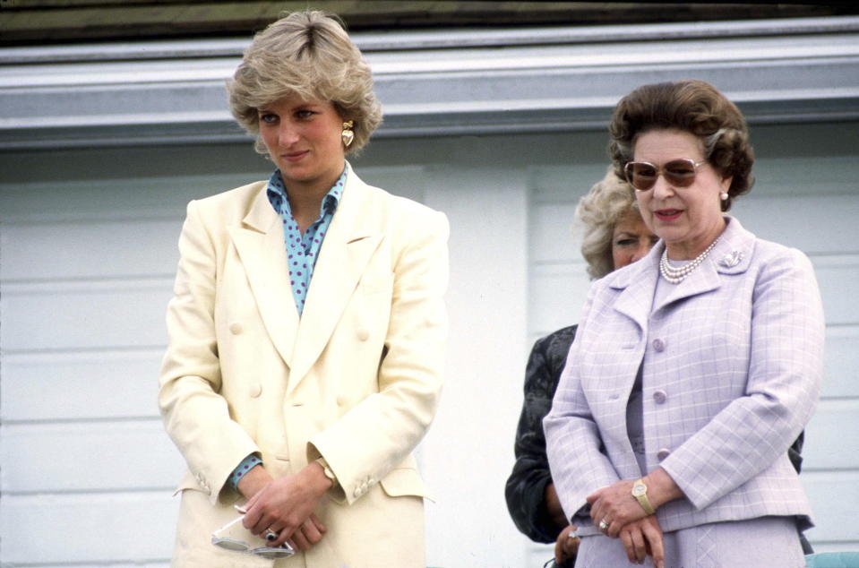 Princess Diana and the Queen