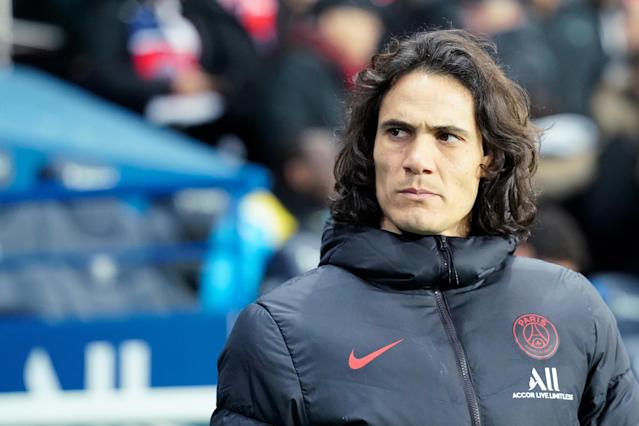 Edinson Cavani seems determined to join Atletico Madrid. (Photo by Jeroen Meuwsen/Soccrates/Getty Images)