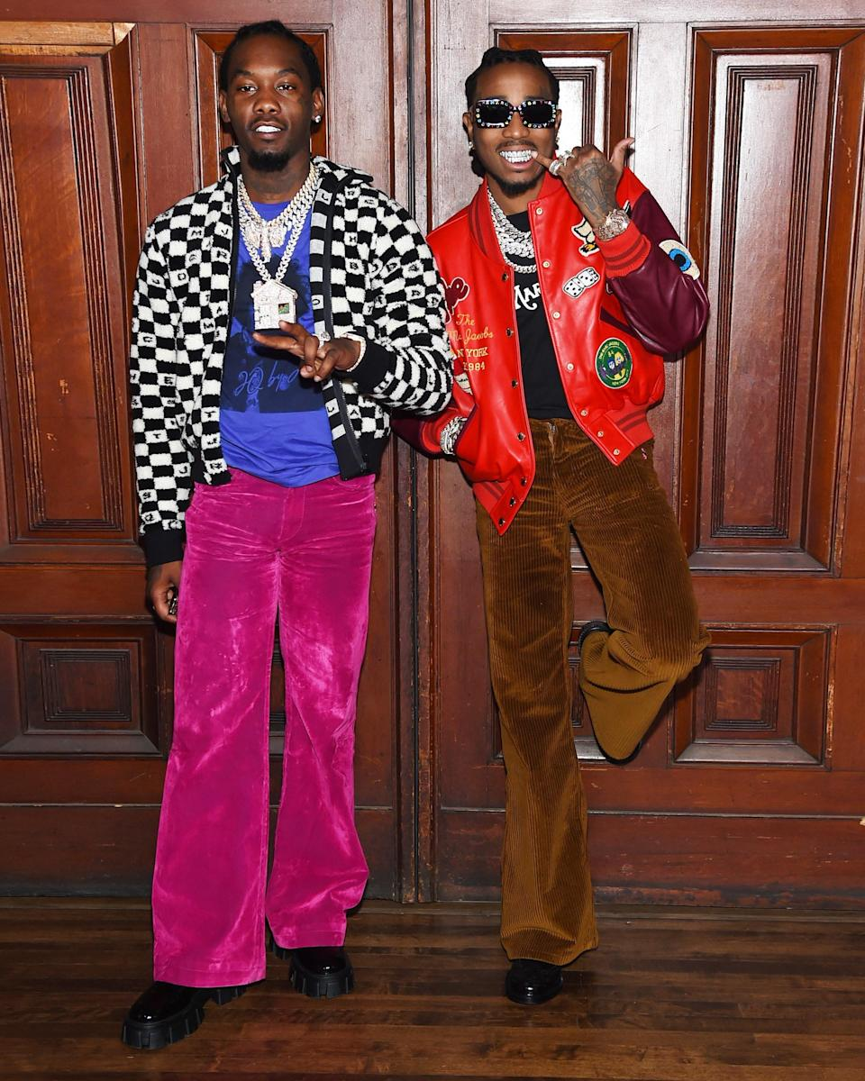 """<h1 class=""""title"""">September 12: Offset and Quavo</h1> <div class=""""caption""""> Ric Flare Drip. </div> <cite class=""""credit"""">Getty Images</cite>"""