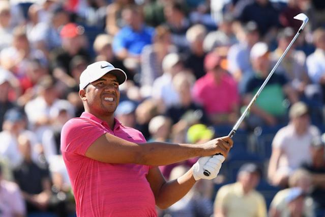 Jhonattan Vegas just barely made his tee time at the Open Championship. (Getty)