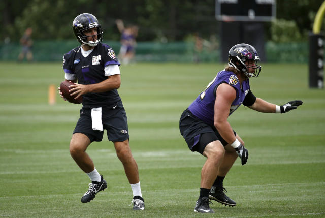 Joe Flacco isn't surrendering the starting QB gig just yet. (AP)