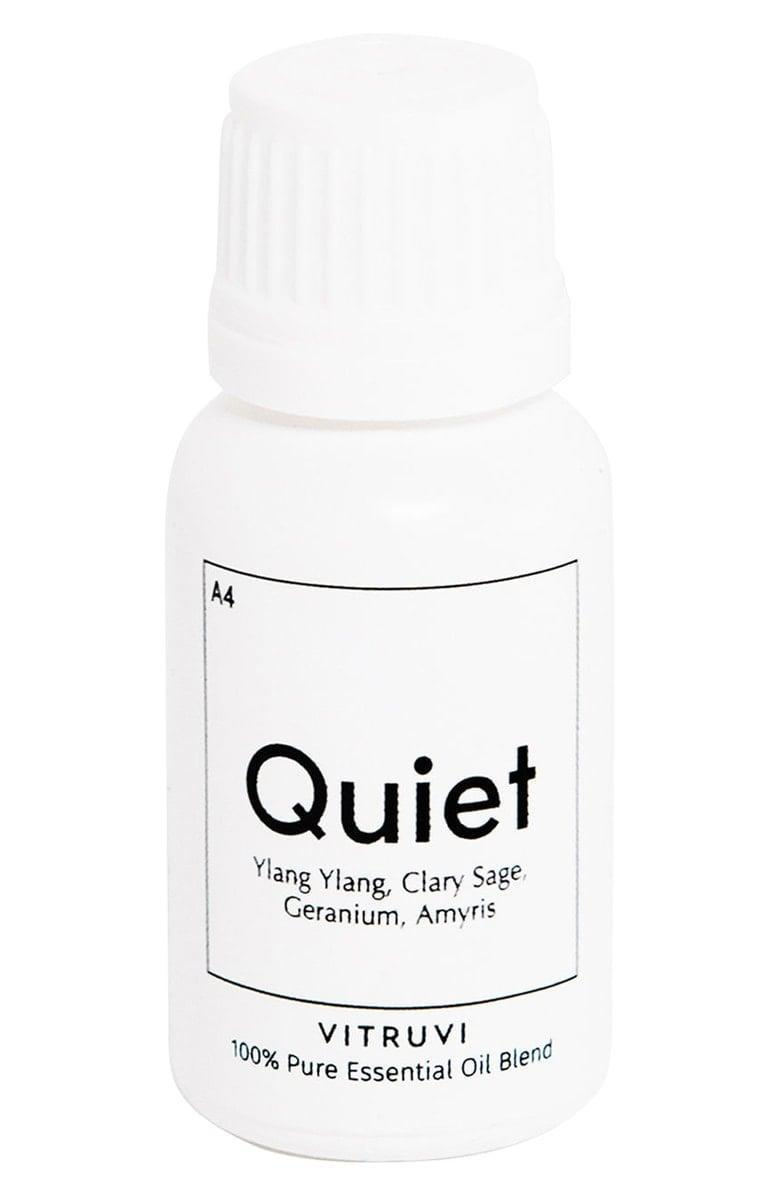 <p>You'll feel at peace when you pour a few drops of the rejuvenating <span>Vitruvi Quiet Blend Essential Oil </span> ($26) into your diffuser.</p>
