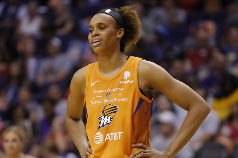 Phoenix Mercury forward Brianna Turner is speaking out after the George Floyd killing. (AP Photo/Rick Scuteri)