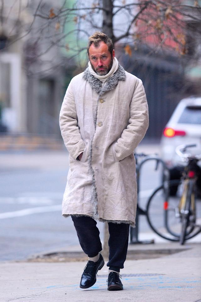 <p>WHERE: In Manhattan</p> <p>WHEN: January 31, 2020</p> <p>WHY: The most important thing to learn here: never stop wearing your dress shoes, even when you're wearing a pelt.</p>