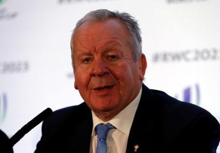FILE PHOTO: Rugby Union - Rugby World Cup 2023 Host Country Announcement - Royal Garden Hotel, London, Britain - November 15, 2017 Bill Beaumont Chairman of World Rugby during the press conference Action Images via Reuters/Paul Childs