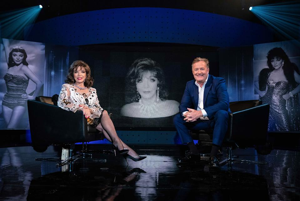 Dame Joan Collins and Piers Morgan on Piers Morgan's Life Stories (ITV)