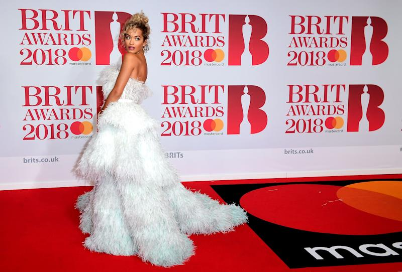 Rita Ora What: Ralph & Russo Couture Where: At the Brit Awards, London When: February 21, 2018