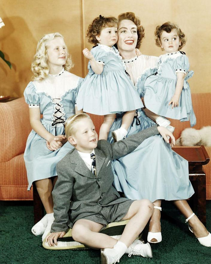 """<p>Joan Crawford and Elizabeth Taylor both adopted children, as it allowed them to continue working, while Loretta Young kept her pregnancy and birth a secret from the public and later <a href=""""https://abcnews.go.com/Entertainment/story?id=113142&page=1"""" rel=""""nofollow noopener"""" target=""""_blank"""" data-ylk=""""slk:adopted her biological daughter"""" class=""""link rapid-noclick-resp"""">adopted her biological daughter</a>, Judy Lewis. </p>"""