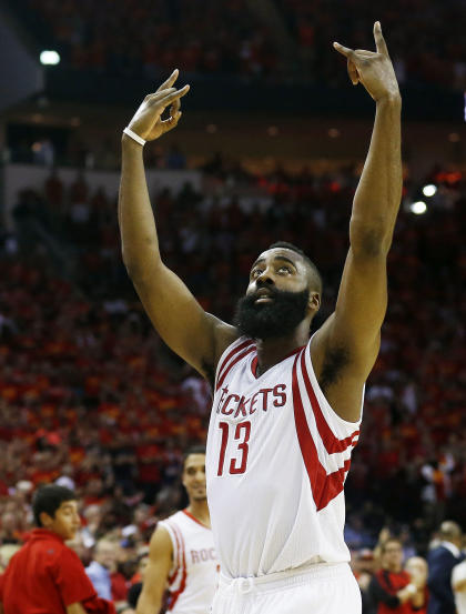 James Harden scored 31 points in the Rockets' Game 7 victory. (AP)