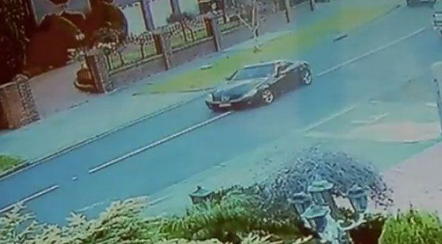 CCTV footage revealed a black Mercedes identical to Ms Ristevski's being driven into her street on the day she disappeared. Source: 7 News