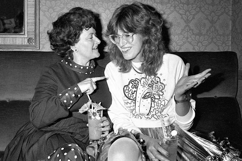 Drinks on us: Janet Street-Porter with 1970s madam Cynthia Payne in 1981 (Alan Davidson)