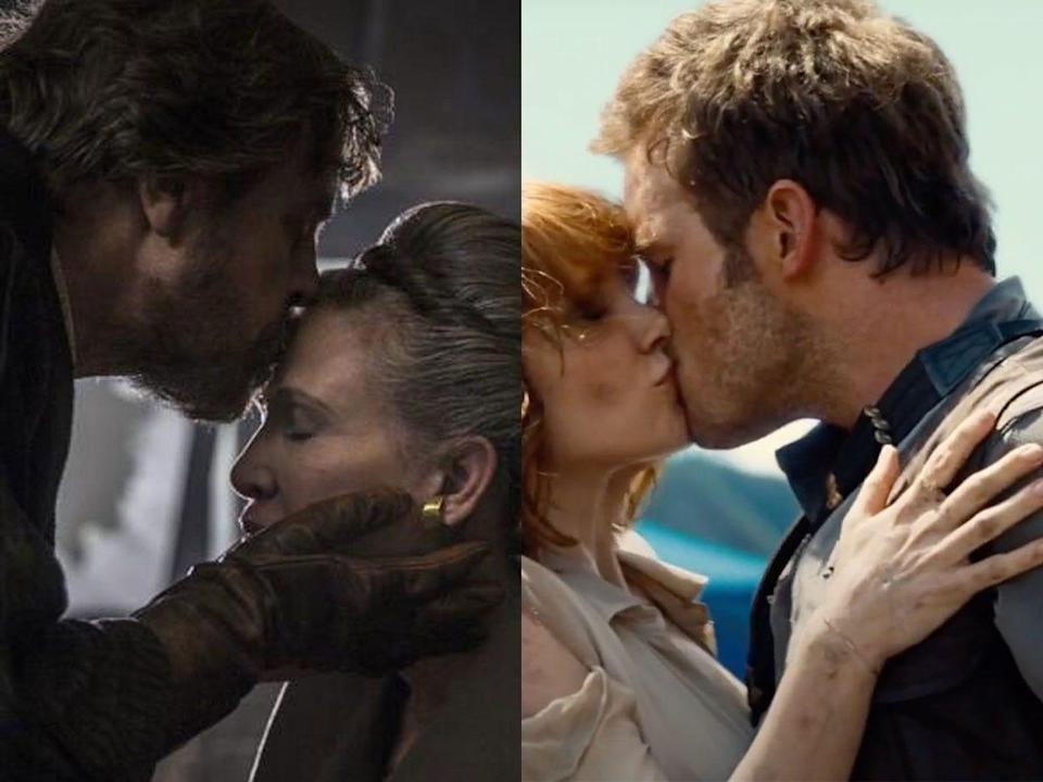 star wars jurassic world kiss