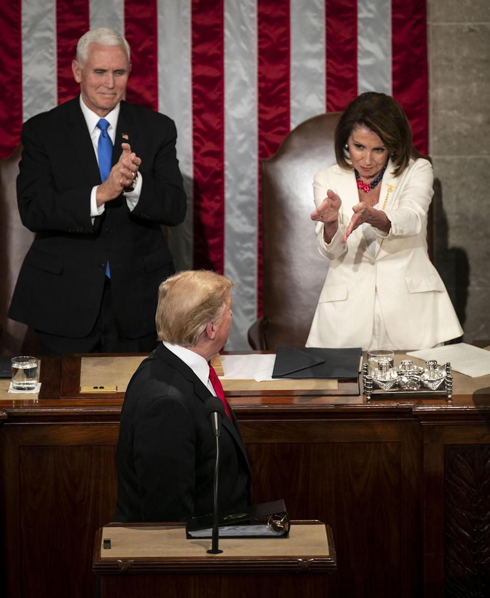 House Speaker Nancy Pelosi's reactions during the State of the Union have won the internet. (Photo: Al Drago/Bloomberg)
