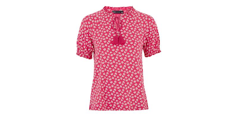 Floral Relaxed Short Sleeve Top