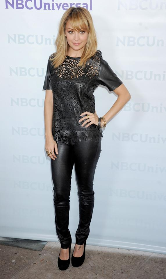 """Nicole Richie (""""<a href=""""http://tv.yahoo.com/fashion-star/show/47285"""">Fashion Star</a>"""") arrives at NBC Universal's 2012 Summer Press Day at The Langham  Huntington Hotel and Spa on April 18, 2012 in Pasadena, California."""