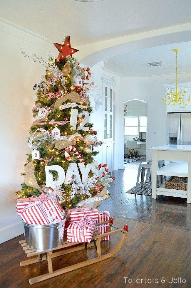 """<p>What better way to count down to Christmas than with a tree that does it for you? This tree makes the weeks leading up to Christmas that much more fun.</p><p><strong><em>Get the tutorial at <a href=""""http://tatertotsandjello.com/2014/11/12-days-christmas-advent-tree.html"""" rel=""""nofollow noopener"""" target=""""_blank"""" data-ylk=""""slk:Tatertots & Jello"""" class=""""link rapid-noclick-resp"""">Tatertots & Jello</a>. </em></strong></p><p><a class=""""link rapid-noclick-resp"""" href=""""https://www.amazon.com/ToBeIT-Plastic-Christmas-Hanging-Ornaments/dp/B08D74JDDT/?tag=syn-yahoo-20&ascsubtag=%5Bartid%7C10070.g.2025%5Bsrc%7Cyahoo-us"""" rel=""""nofollow noopener"""" target=""""_blank"""" data-ylk=""""slk:BUY CANDY CANE ORNAMENTS"""">BUY CANDY CANE ORNAMENTS</a> </p>"""