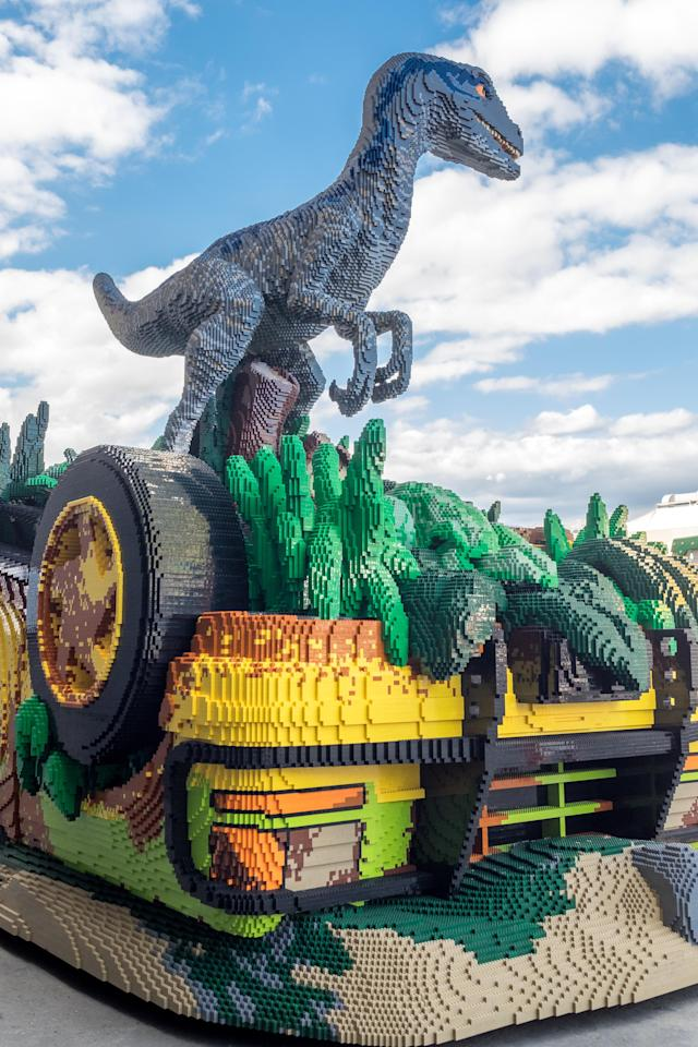 Blue is ready to terrify park-goers.(Photo: Courtesy of the Lego Group)