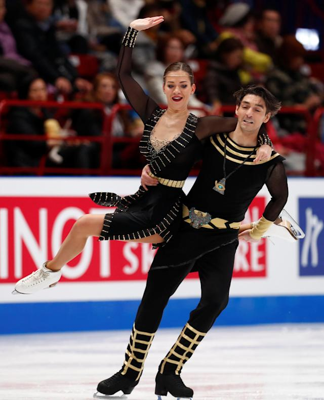 Figure Skating - World Figure Skating Championships - The Mediolanum Forum, Milan, Italy - March 24, 2018 Turkey's Alisa Agafonova and Alper Ucar during the Ice Dance Free Dance REUTERS/Alessandro Garofalo