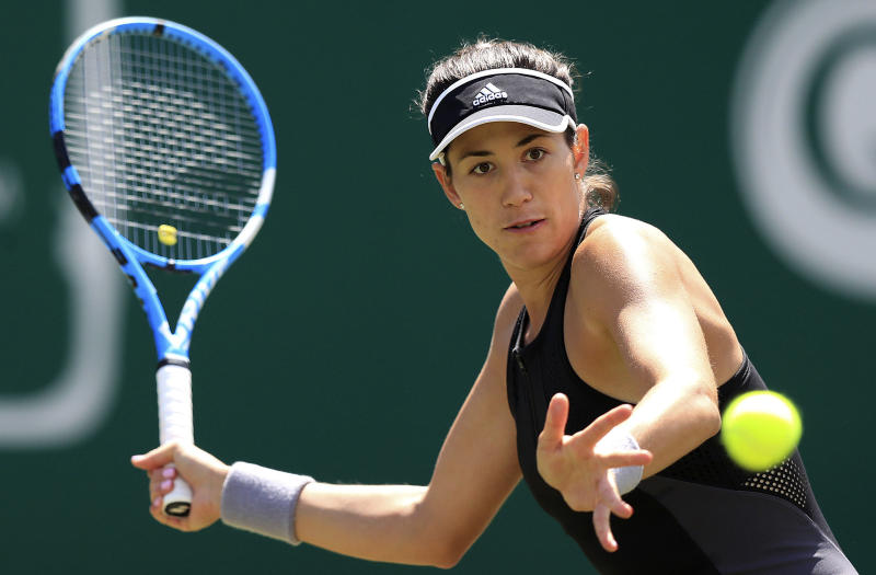Wimbledon champion Garbine Muguruza crumbles against 'shaking' Barbora Strycova in Birmingham