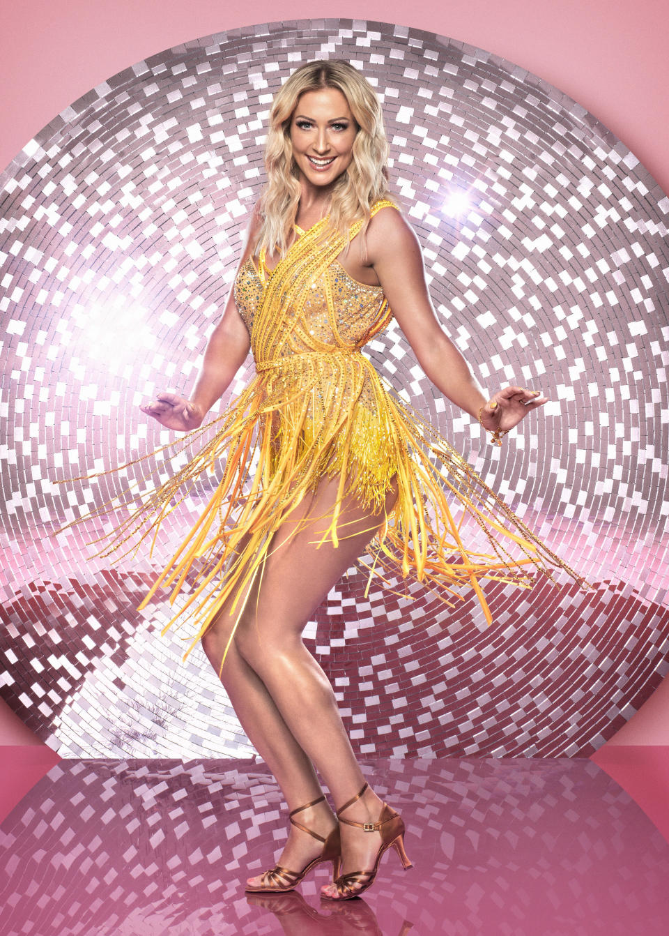 """<p>She also told us that her Steps bandmates are very supportive of her Strictly move: """"They are really excited! We have our WhatsApp group they've already been messaging me and asking how it's going. They are lovely – they are right behind me. They know how desperate I was to do this and they are over the moon."""" (BBC Pictures) </p>"""