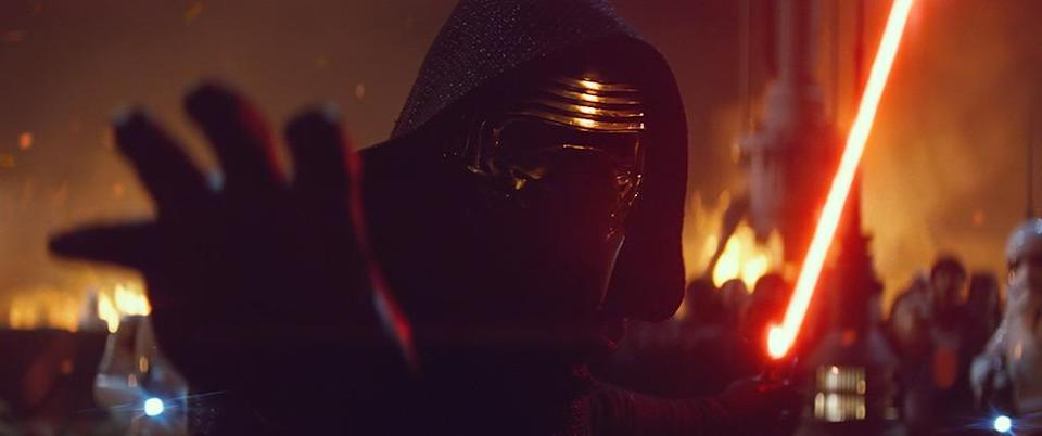 """<p>One of the more intriguing leaks were the spy photos from the Resistance Base set,<a href=""""http://www.starwarsnewsnet.com/2014/09/is-this-adam-driver-on-the-latest-greenham-common-pics.html"""" rel=""""nofollow noopener"""" target=""""_blank"""" data-ylk=""""slk:that appeared to show"""" class=""""link rapid-noclick-resp""""> that appeared to show</a> Adam Driver wearing an X-Wing pilot uniform. Was this some canny misinformation from the ever-secretive J.J. Abrams? Or just an extra who happened to bear a passing resemblance to the man behind Kylo Ren's mask? (Photo: Everett Collection/Walt Disney Studios)</p>"""