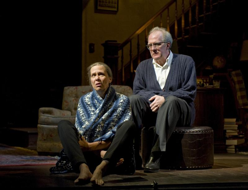 "Tracy Letts with Amy Morton in ""Who's Afraid of Virginia Woolf?"""