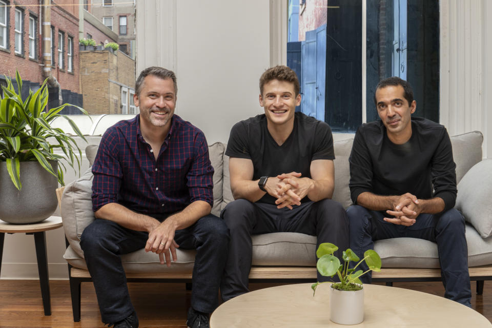 Ro co-founders Rob Schutz, Zachariah Reitano and Saman Rahmanian (left to right)