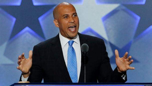 PHOTO: Sen. Cory Booker, D-NJ., speaks during the first day of the Democratic National Convention in Philadelphia, Pennsylvania, July 25, 2016. (J. Scott Applewhite/AP Photo)