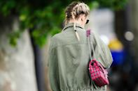 """Messy French braids keep pigtails from feeling childish. When it comes to mastering French braids, LaFond says it all comes down to plenty of practice. Check out our advice on <a href=""""https://www.glamour.com/story/cute-diy-braided-hairstyles?mbid=synd_yahoo_rss"""" rel=""""nofollow noopener"""" target=""""_blank"""" data-ylk=""""slk:how to braid hair"""" class=""""link rapid-noclick-resp"""">how to braid hair</a> for more tips."""