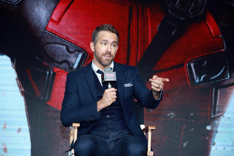 Actor Ryan Reynolds attends the premiere of 'Deadpool 2' at Park Hyatt Hotel on January 20, 2019 in Beijing, China. (Photo by VCG/VCG via Getty Images)