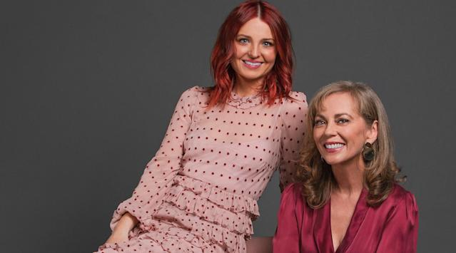 Annie Jones (r) and Charlotte Chimes (l) are joining the cast of 'Neighbours' as Jane Harris and her daughter. (Channel 5)