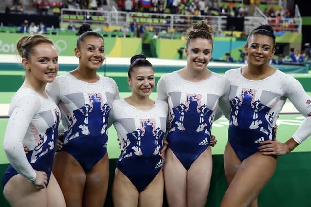 Becky and Ellie Downie featured for Great Britain at the Rio Olympics (Owen Humphreys/PA)
