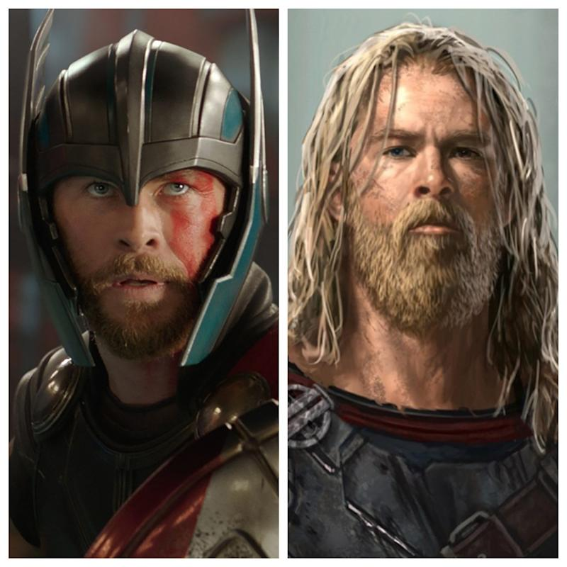 Quarantined Thor? Extreme 'Ragnarok' concept art reveals shaggiest Chris Hemsworth hero