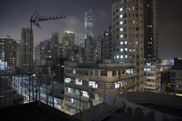 <p>A general view is shown of residential and commercial buildings in Yau Tsim Mong District, May 6, 2017, which is a popular location for subdivided units in Hong Kong. (Photo: Kin Cheung/AP) </p>